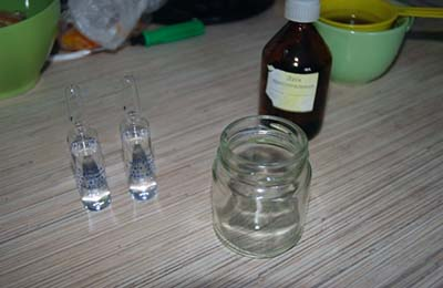 Подготовка лекарства