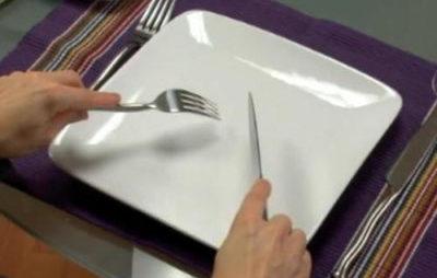 Использование столовых приборов