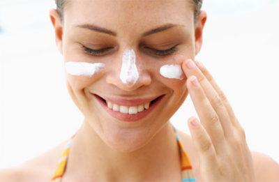 использование солнцезащитного крема