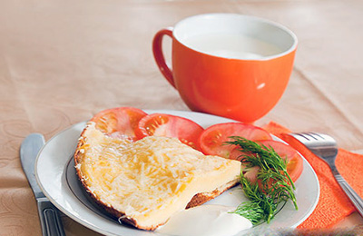 Омлет с чаем