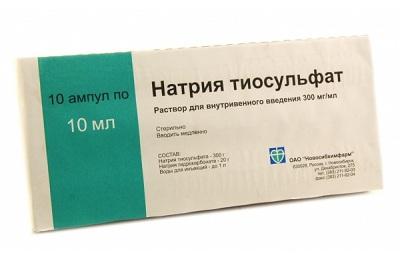 Раствор натрия тиосульфата