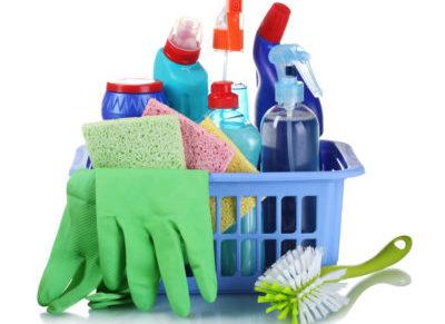 Бытовая химия и перчатки