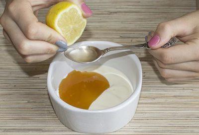 Приготовление маски с лимоном