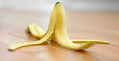 Прикладывание банановой кожуры