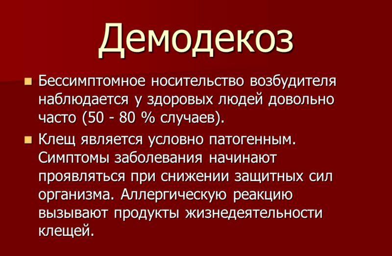 Общая информация о демодекозе